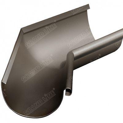 Угол желоба внутренний 135° 125x90 мм. Grand Line, цвет RR 32 темно-коричневый