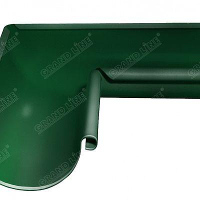 Угол желоба внутренний 90° 125x90 мм. Grand Line, цвет Ral 6005 зеленый мох