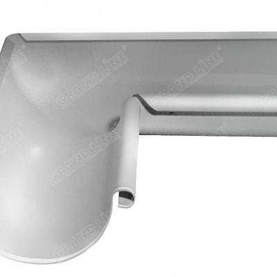 Угол желоба внутренний 90° 125x90 мм. Grand Line, цвет Ral 9003 белый