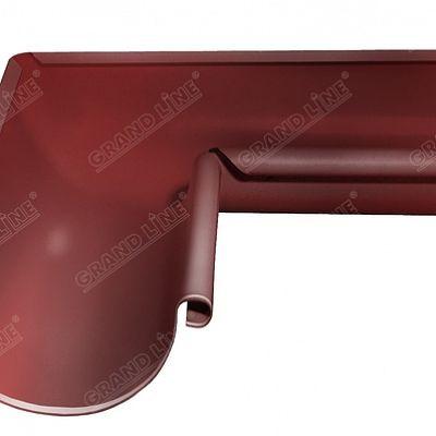 Угол желоба внутренний 90° 125x90 мм. Grand Line, цвет RR 29 красный