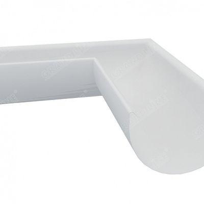 Угол желоба внутренний 90° 150x100 мм. Grand Line, цвет Ral 9003 белый
