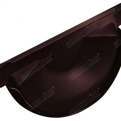 Заглушка желоба 150x100 мм. Grand Line, цвет Ral 8017 коричневый шоколад