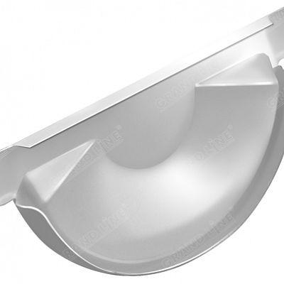 Заглушка желоба 150x100 мм. Grand Line, цвет Ral 9003 белый