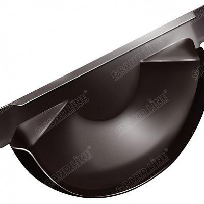Заглушка желоба 125x90 мм. Grand Line, цвет Ral 8017 коричневый шоколад