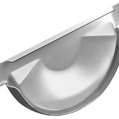 Заглушка желоба 125x90 мм. Grand Line, цвет Ral 9003 белый