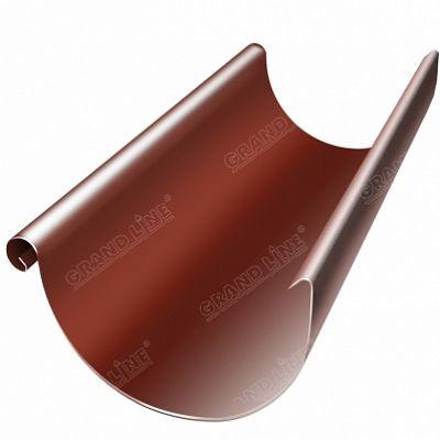 Полукруглый желоб, 3 м. 125x90 мм. Grand Line, цвет Ral 8004 коричневая медь