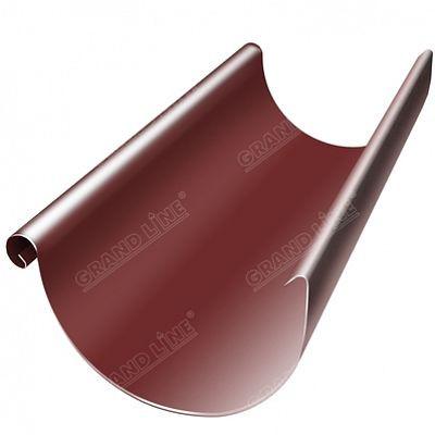 Полукруглый желоб, 3 м. 125x90 мм. Grand Line, цвет RR 29 красный