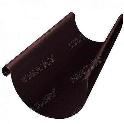 Полукруглый желоб, 3 м. 150x100 мм. Grand Line, цвет Ral 8017 коричневый шоколад