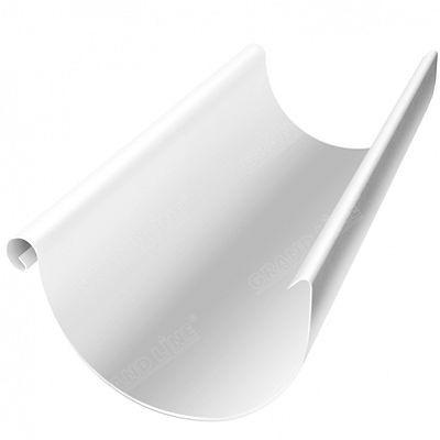 Полукруглый желоб, 3 м. 150x100 мм. Grand Line, цвет Ral 9003 белый