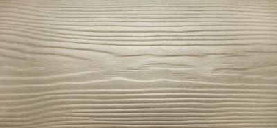 Сайдинг фиброцементный Cedral Wood цвета C03 белый песок, с фактурой под дерево