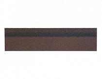 Карнизно-коньковая черепица Шинглас, цвет коричневый