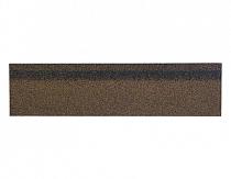 Карнизно-коньковая черепица Шинглас, цвет коричневый микс