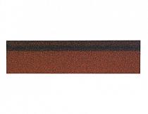 Карнизно-коньковая черепица Шинглас, цвет красный микс