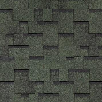 Черепица Шинглас серия Аккорд цвет зеленый.