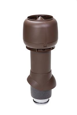 Вентиляционный выход Vilpe 125/ИЗ/500, цвет коричневый