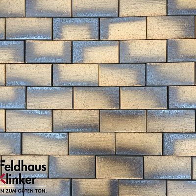 Тротуарная клинкерная плитка Feldhaus Klinker 248 areno nero