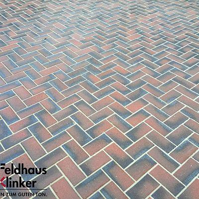 Тротуарная клинкерная плитка Feldhaus Klinker 408 gala nero