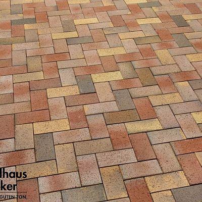 Тротуарная клинкерная плитка Feldhaus Klinker 415 galea solea