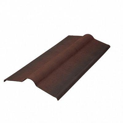 Конёк для кровли из Ондулина цвет коричневый.