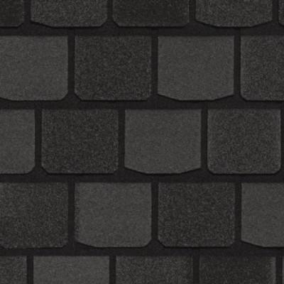 Двухслойная гибкая черепица CertainTeed Highland Slate black granite